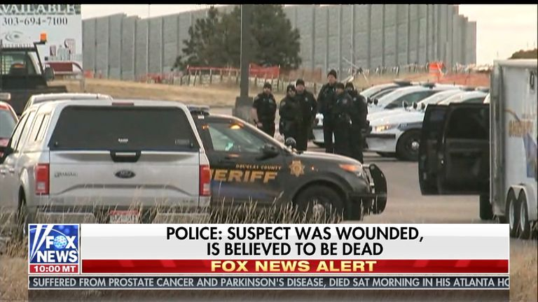 The suspect was declared dead after a stand-off lasting several hours. Pic: Fox News