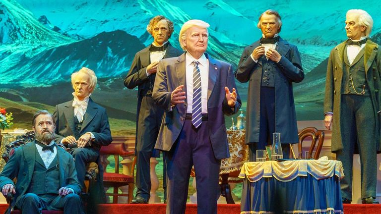 Mr Trump recorded a speech to bring the show to a close. Pic: WDWMAGIC.com