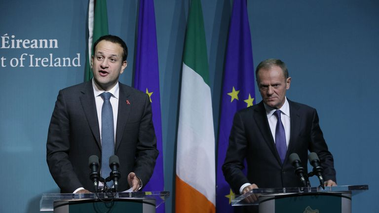 Taoiseach Leo Varadkar and President of the European Council, Donald Tusk held a press conference