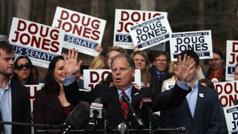 Doug Jones' win will trim the Republican majority in the US Senate