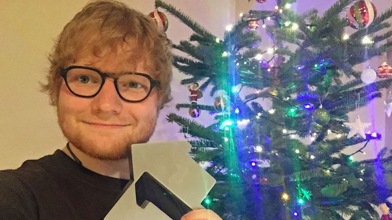 Ed Sheeran's Perfect topped the chart at Christmas