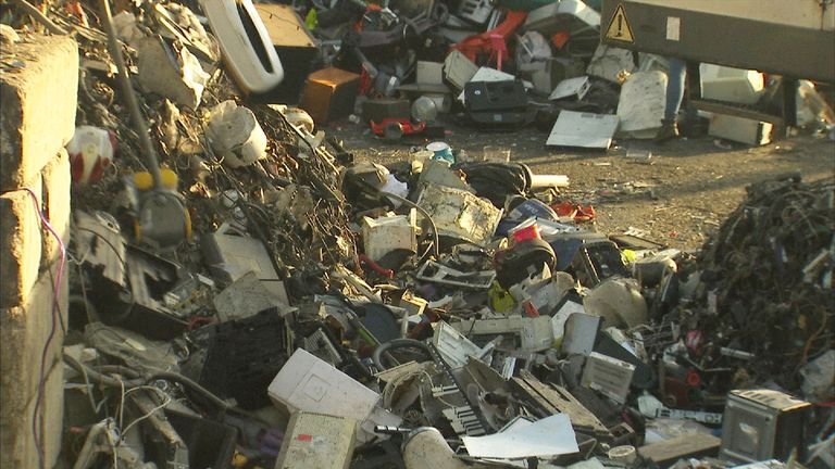 UK reports says global electronic waste mountain has grown by 8% in the past two years