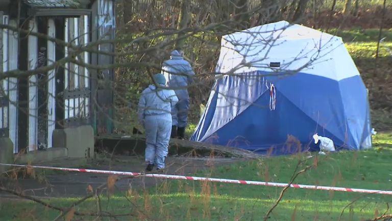 Crime scene investigators in Finsbury Park