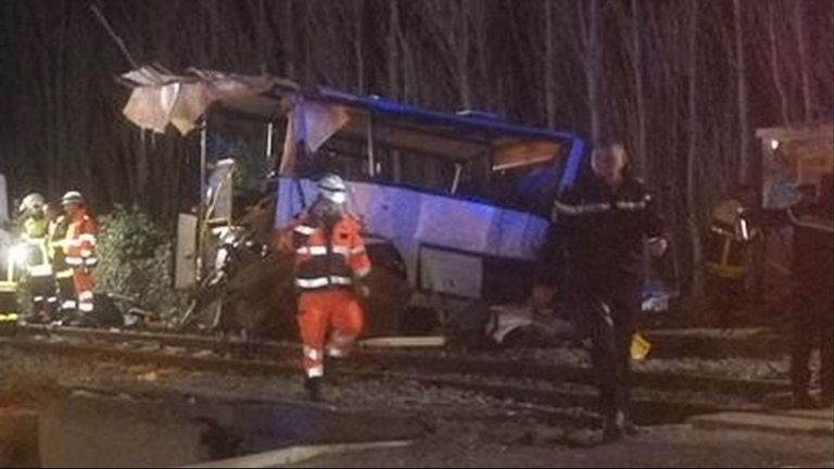 At least four people have died in the accident
