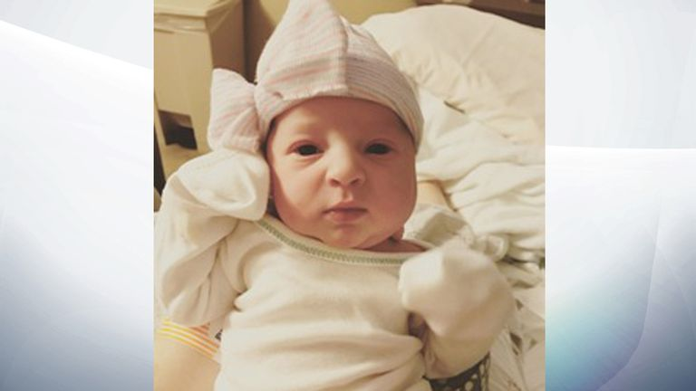 Emma Wren was born in November after she was frozen as an embryo in 1992. Pic: NEDC