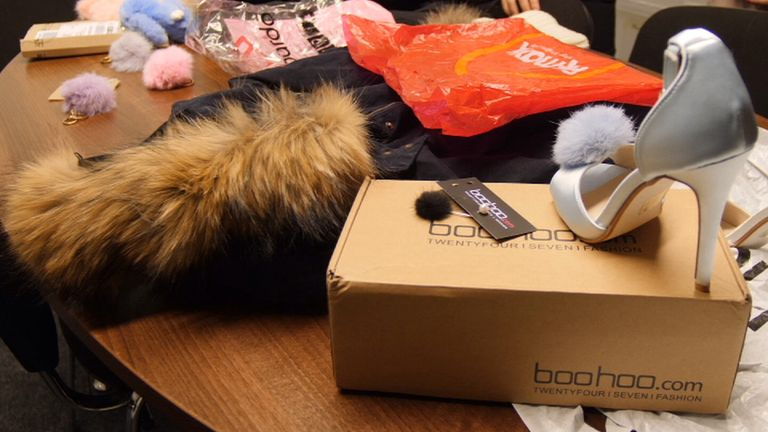 Sky News found retailers who claimed to be fur-free were selling real fur labelled as fake