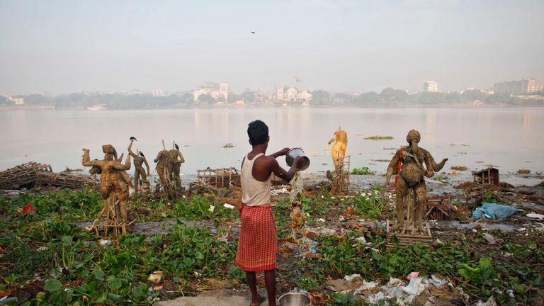 The Ganges is considered the fifth most-polluted river in the world