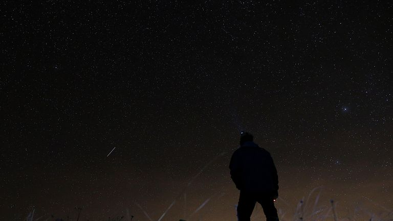 The Geminid shower returns every year. Above, the shower in Italy in 2015