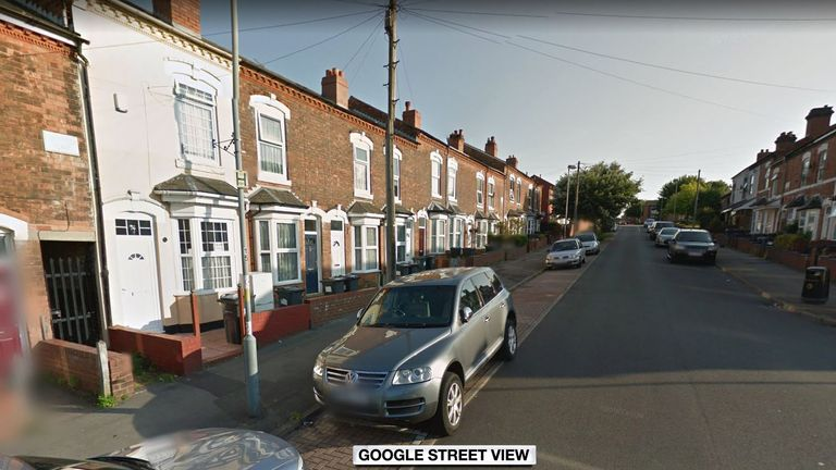 The road in Birmingham where Hakeem's body was found. Pic: Google street view