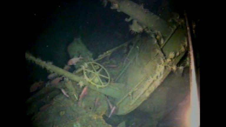 Underwater footage of HMAS AE1. Pic: Royal Australian Navy