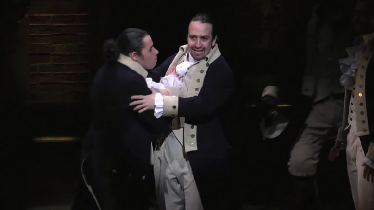 The musical tells the story of Alexander Hamilton, one of America's founding fathers