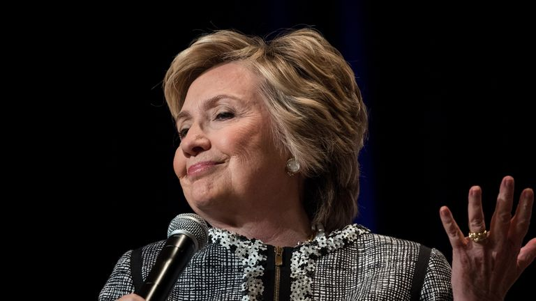 NEW YORK, NY - JUNE 1: Former U.S. Secretary of State and 2016 presidential candidate Hillary Clinton speaks during BookExpo 2017 at the Jacob K. Javits Convention Center, June 1, 2017 in New York City. Clinton will release her latest memoir in October via publisher Simon & Schuster. (Photo by Drew Angerer/Getty Images)