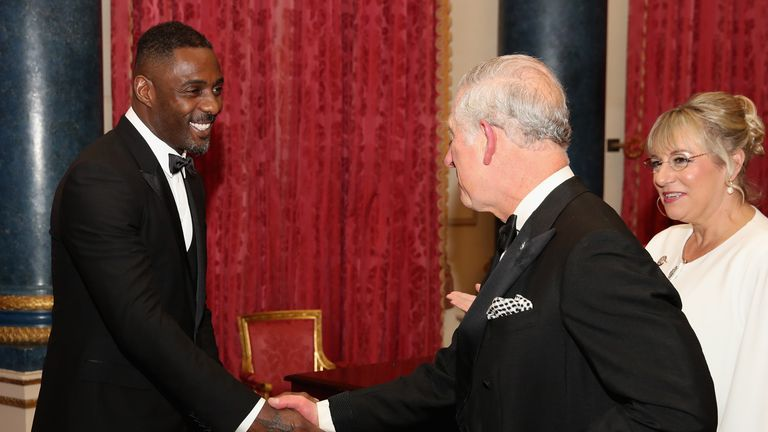 Idris Elba spoke about the American actress as he attended a Prince's Trust event