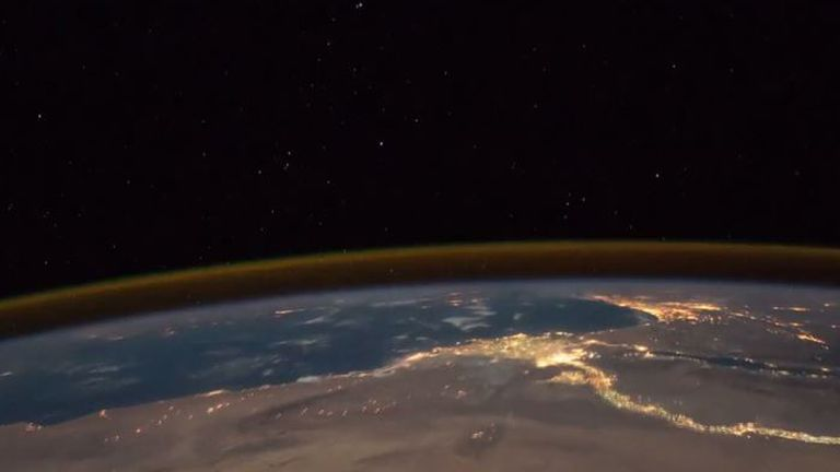 Time-lapse footage of Africa from International Space Station