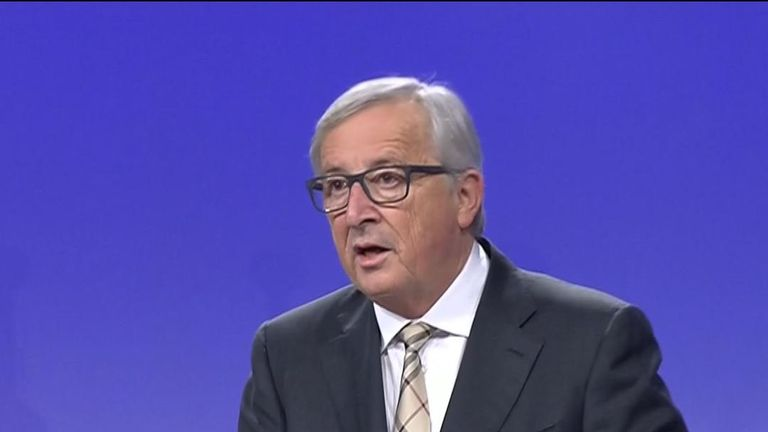 Jean-Claude Juncker said the talks with Theresa May had not produced a deal