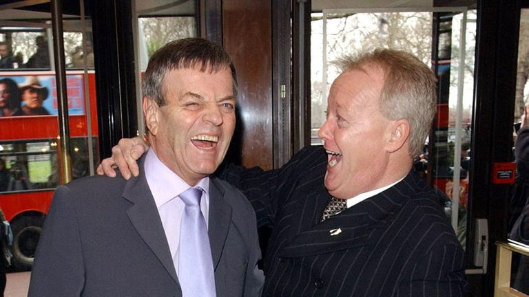 Tony Blackburn (l) and Keith Chegwin were great friends