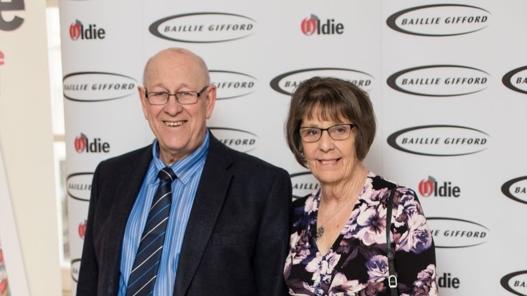 Leon Bernicoff and wife June pictured at the Oldie of the Year Awards in 2016