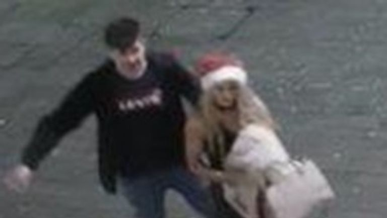 Police have asked to see if they recognise these people in Lincoln who took PC Solder's helmet Pic: Lincolnshire Police