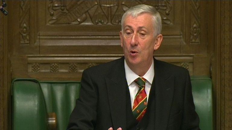 Lindsay Hoyle, the deputy speaker of the House of Commons