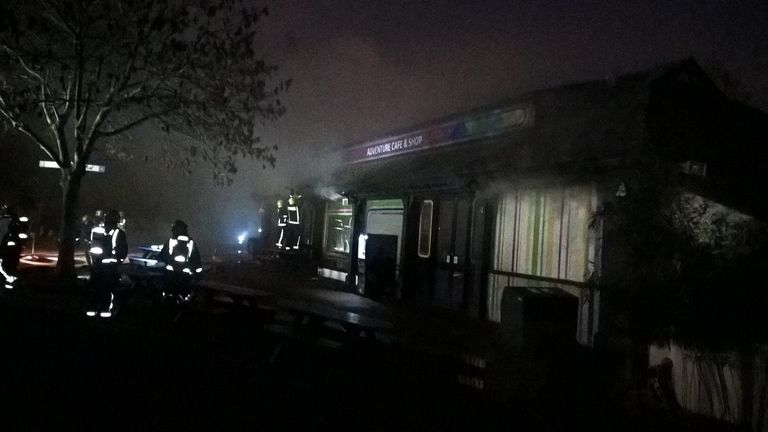 Picture of fire at London Zoo. Pic: London Fire Bridgade