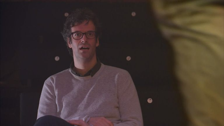Marcus Brigstocke during rehearsals for the revival of Barnum the musical