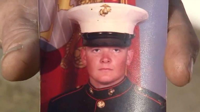 Everitt Jameson when he was in Marine training