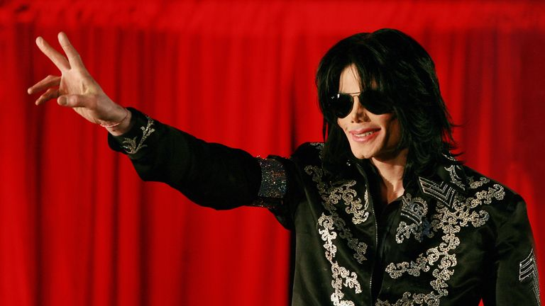 Michael Jackson addresses a press conference at the O2 Arena in London in March 2009