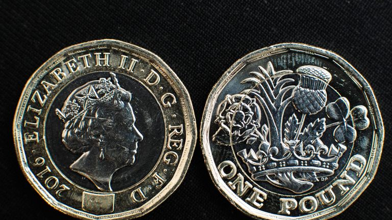 The new 12-sided coin replaced the £1