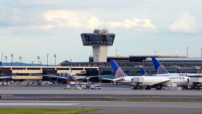 The incident happened at Newark Liberty International Airport