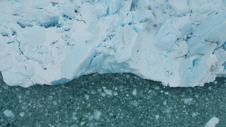 The Arctic ice shelf is retreating as seas warm up