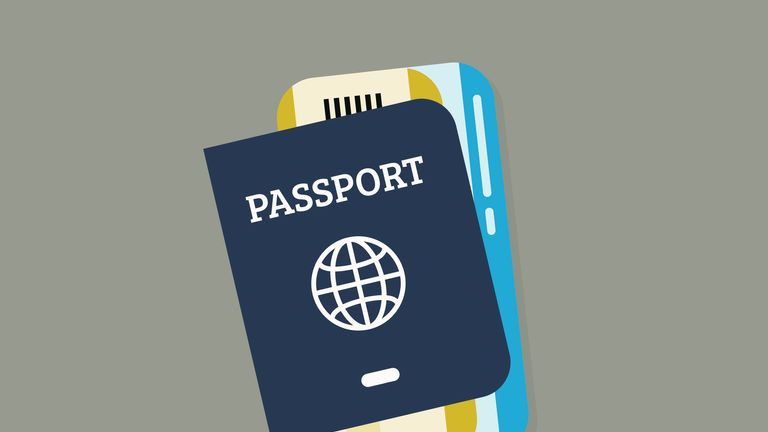Illustration passport as plans are announced to change colour of UK passports