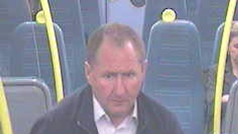 British Transport Police released this image of a man they want to speak to in connection with the assault