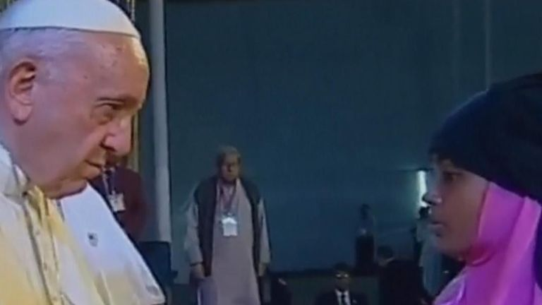 The Pope met Rohingya refugees in Bangladesh