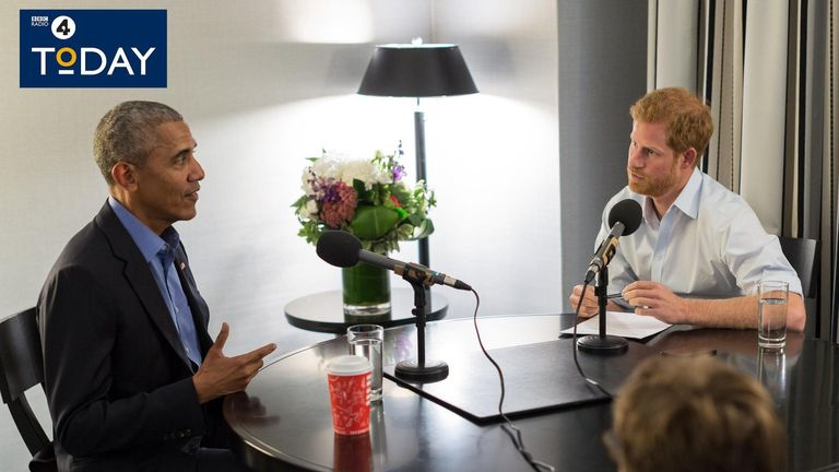 The Royal quizzes Barack Obama, who spoke about the divisive use of social media