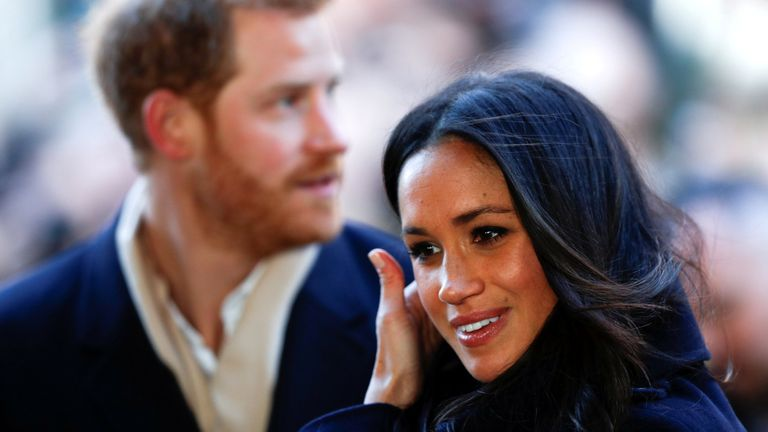 Prince Harry and his fiancee Meghan Markle