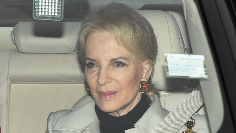 Princess Michael of Kent arrives at the annual Christmas lunch in Buckingham Palace