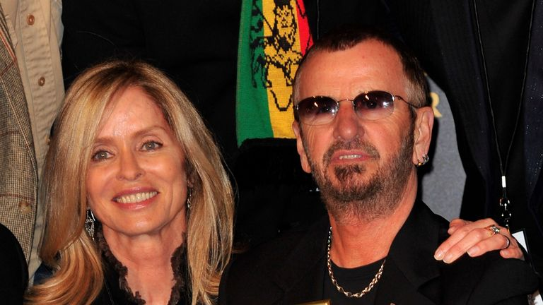 Barbara Bach and Ringo Starr attend the 2401st Hollywood Walk of Fame Star ceremony honouring Ringo Starr