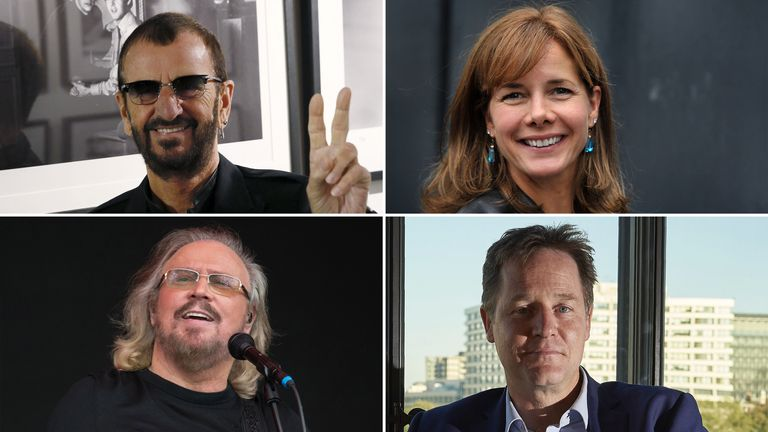 Ringo Starr, Darcey Bussell, Barry Gibb and Nick Clegg are among those honoured