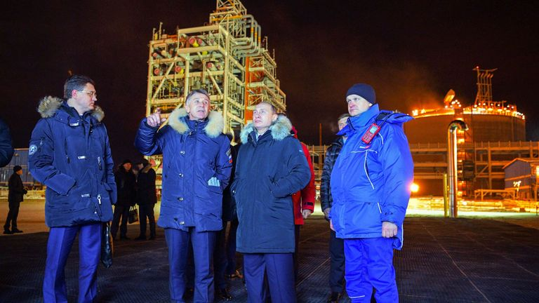 More than 50% of the plant is owned by Russian gas producer Novatek