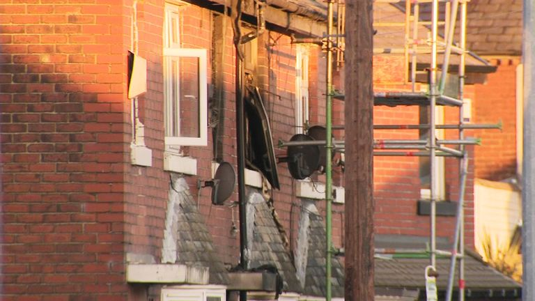 House fire in Salford
