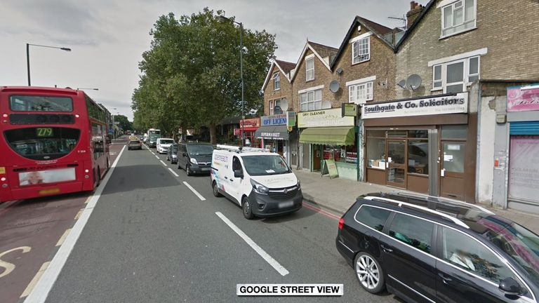 The crash happened along Seven Sisters Road, near Elizabeth Road. Pic: Google Street View