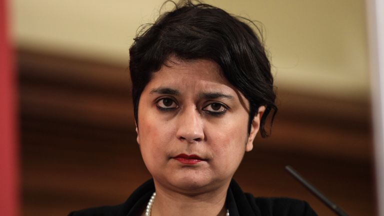 LONDON, ENGLAND - DECEMBER 10: Shadow Attorney General Shami Chakrabarti is pictured following a speech by Labour Leader Jeremy Corbyn at the Methodist Central Hall in Westminster on December 10, 2016 in London, England. Mr Corbyn was joined by Labour politicians as he made a speech to mark international Human Rights Day. (Photo by Jack Taylor/Getty Images)
