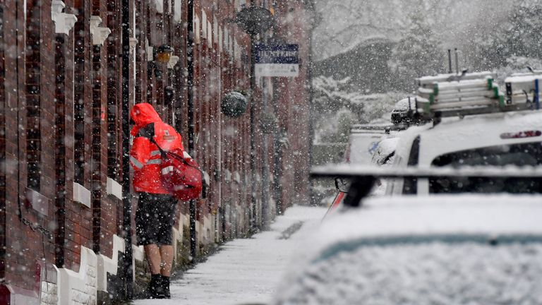 Snow in the warning areas are widely expected to reach depths of 10cm