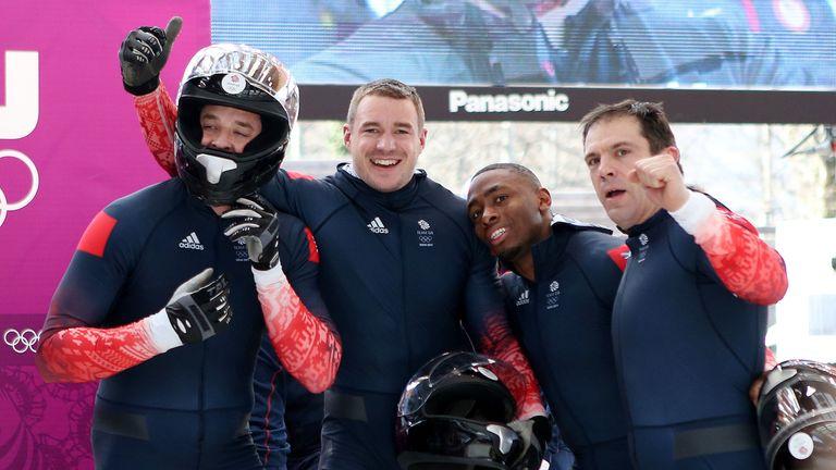 Great Britain Men's Bobsleigh GBR-1 Team of Stuart Benson, Bruce Tasker, Joel Fearon and John Jackson