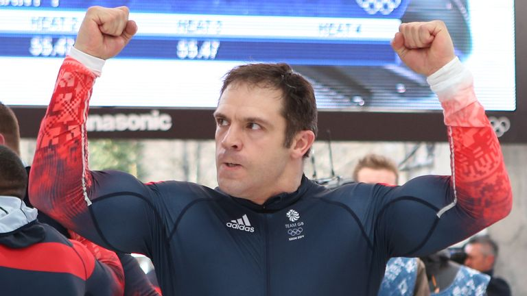 Great Britain Men's Bobsleigh GBR-1's John Jackson after his fourth run of the men's 4 man Bobsleigh at the Sanki Sliding Centre during the 2014 Sochi Olympic Games