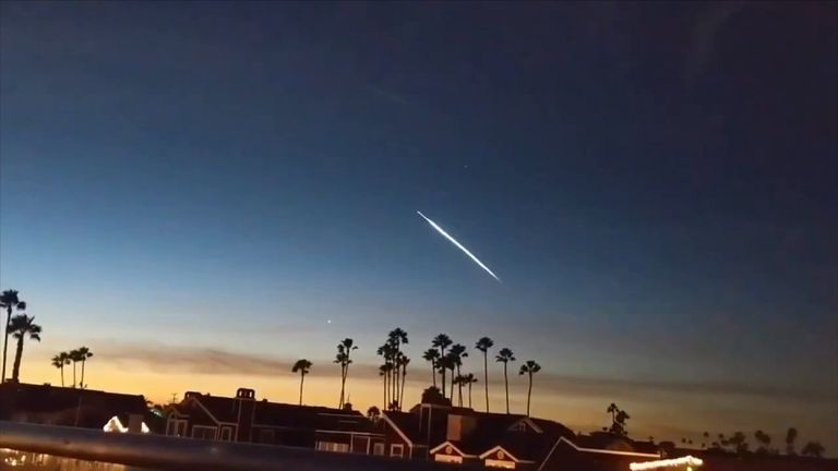 SpaceX launch in California. Pic: Danny Sullivan