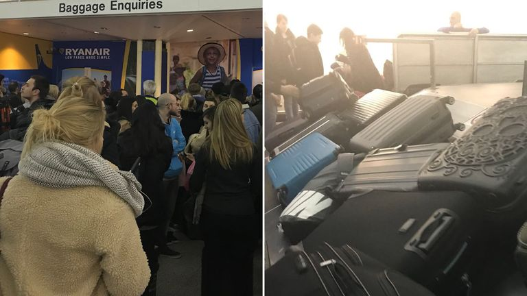 Hundreds of passengers were left stranded after flight cancellations. Pic: Sophia Sleigh