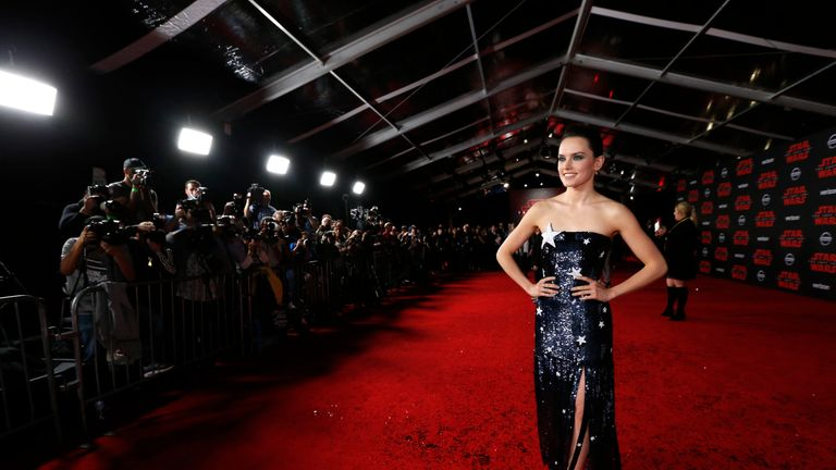 Daisy Ridley wowed in a sparkly star dress
