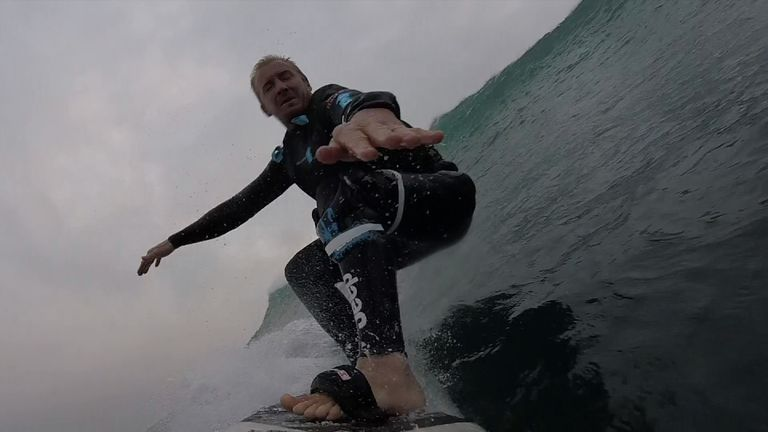 Andrew Cotton travels the glob looking for the world's biggest waves
