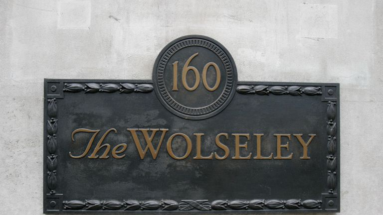 The Wolseley is located on Piccadilly in central London